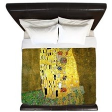 The Kiss by Gustav Klimt King Duvet