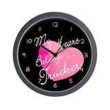 My Heart Belongs to a Trucker Wall Clock
