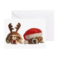 Funny Bulldog Christmas Greeting Card