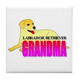 Yellow Labrador Retriever Grandma Tile Coaster