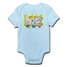 Pennsylvania Map Greetings Infant Bodysuit