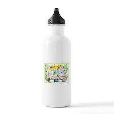 Pennsylvania Map Greetings Water Bottle