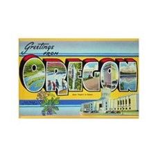 Oregon Greetings Rectangle Magnet (10 pack)