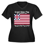 Grand Union Flag Women's Plus Size V-Neck Dark T-S