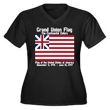 Grand Union Flag Women's Plus Size V-Neck Dark T-S