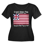 Grand Union Flag Women's Plus Size Scoop Neck Dark