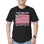 Grand Union Flag Men's Fitted T-Shirt (dark)