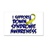 Down Syndrome Awareness Rectangle Car Magnet