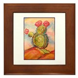 Cactus! Desert southwest art! Framed Tile