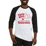 Girl Hearts Bacon Baseball Jersey