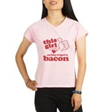 Girl Hearts Bacon Performance Dry T-Shirt