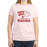 Girl Hearts Bacon T-Shirt