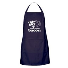 Girl Hearts Bacon Apron (dark)