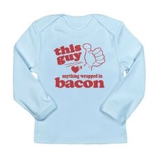 Guy Hearts Bacon Long Sleeve Infant T-Shirt
