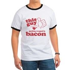 Guy Hearts Bacon T