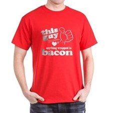 Guy Hearts Bacon T-Shirt