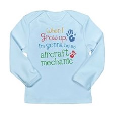 Future Aircraft Mechanic Long Sleeve Infant T-Shir