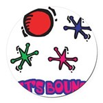 Lets Bounce Jacks Jax.png Round Car Magnet