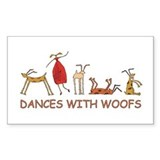 Dances with Woofs (female) Decal