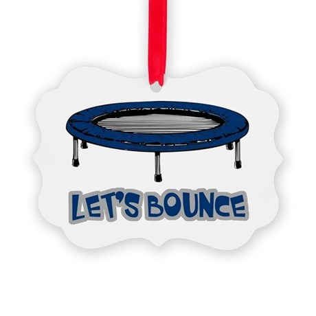 Lets Bounce Trampoline.png Picture Ornament