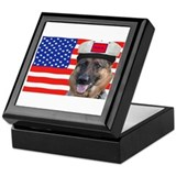 Annie & USA FLAG Keepsake Box
