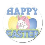 3-happy easter design.png Round Car Magnet