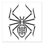 tribal spider design.png Square Car Magnet 3