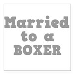 BOXER.png Square Car Magnet 3