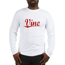 Vine, Vintage Red Long Sleeve T-Shirt