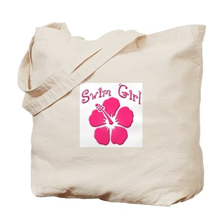 Swim Girl - Dark Pink Tote Bag