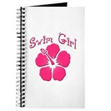 Swim Girl - Dark Pink Journal