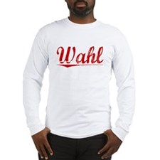 Wahl, Vintage Red Long Sleeve T-Shirt