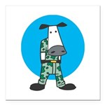 military cow in camo copy.jpg Square Car Magnet 3