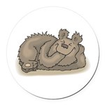 funny little bear copy.jpg Round Car Magnet