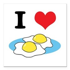 "fried eggs.jpg Square Car Magnet 3"" x 3"""
