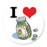 green olives.jpg Round Car Magnet