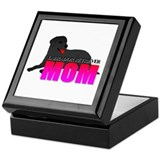 Black Labrador Retriever Mom Keepsake Box