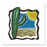 cactus scene copy.jpg Square Car Magnet 3