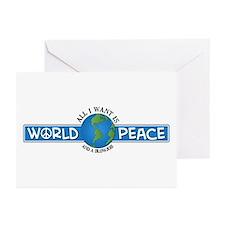 World Peace & blowjob Greeting Cards (Pk of 10