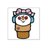 cute little girl snow cone.png Square Sticker 3