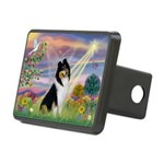 Cloud Angel / Collie Rectangular Hitch Cover