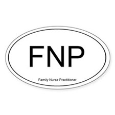 Family Nurse Practitioner Oval Decal