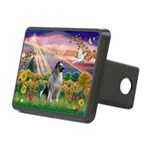Autumn Angel/Keeshond Rectangular Hitch Cover