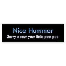 Nice Hummer Little Pee Pee Bumper Bumper Sticker