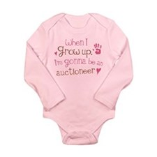 Kids Future Auctioneer Long Sleeve Infant Bodysuit