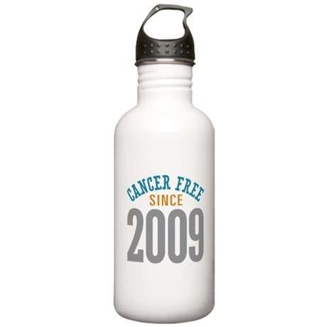 Cancer Free Since 2009 Stainless Water Bottle 1.0L