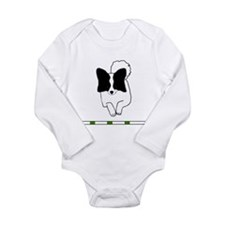 Black Papillon Long Sleeve Infant Bodysuit