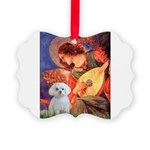 Mandolin Angel / Maltese Picture Ornament