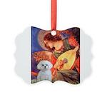 Mandolin Angel / Maltese Picture Ornament