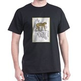 Barbary Ape (Front) Black T-Shirt